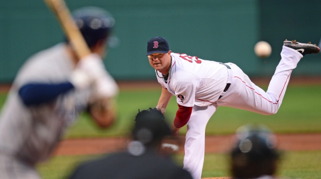 Jon lester of the boston red sox loves to practice throwing a baseball