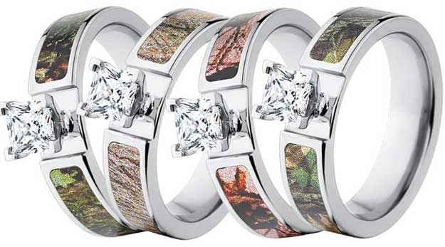 mossy oak camo rings accessories - Mossy Oak Wedding Rings